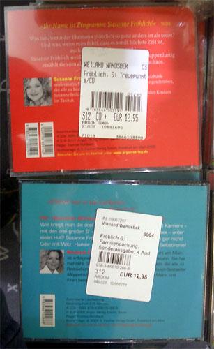 Preisaufkleber auf CD