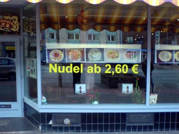 Nudel ab 2,60 Euro